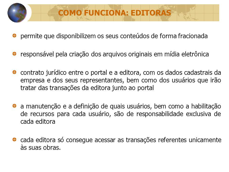 COMO FUNCIONA: EDITORAS