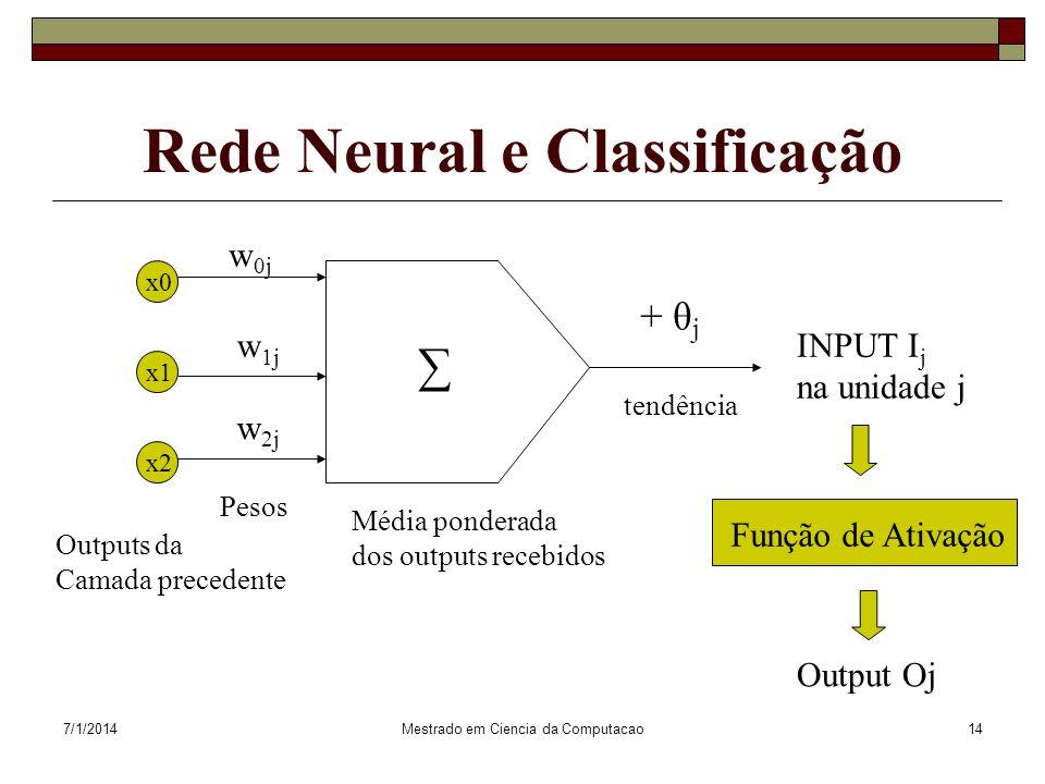 Rede Neural e Classificação