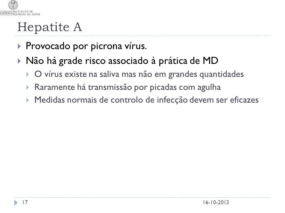 Hepatite A Provocado por picrona vírus.