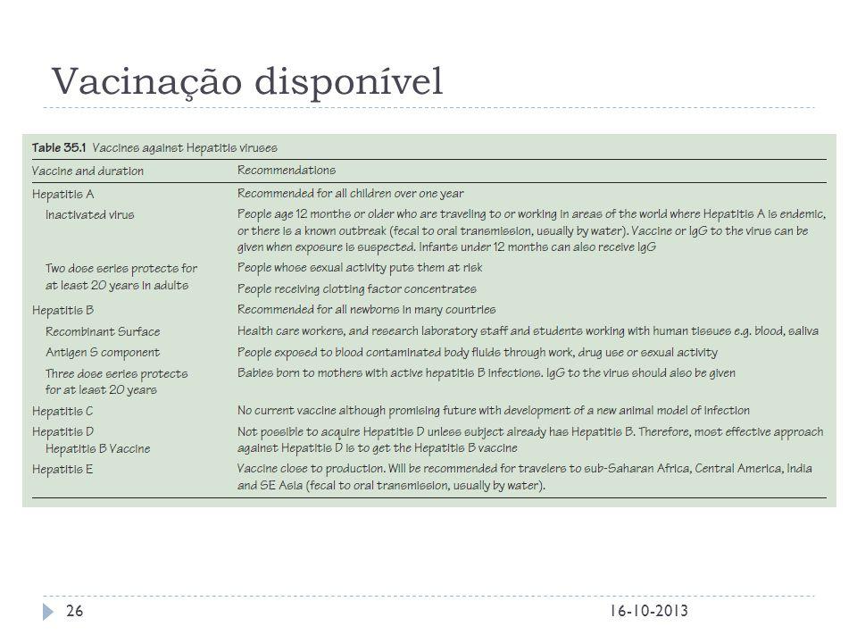 Vacinação disponível 16-10-2013