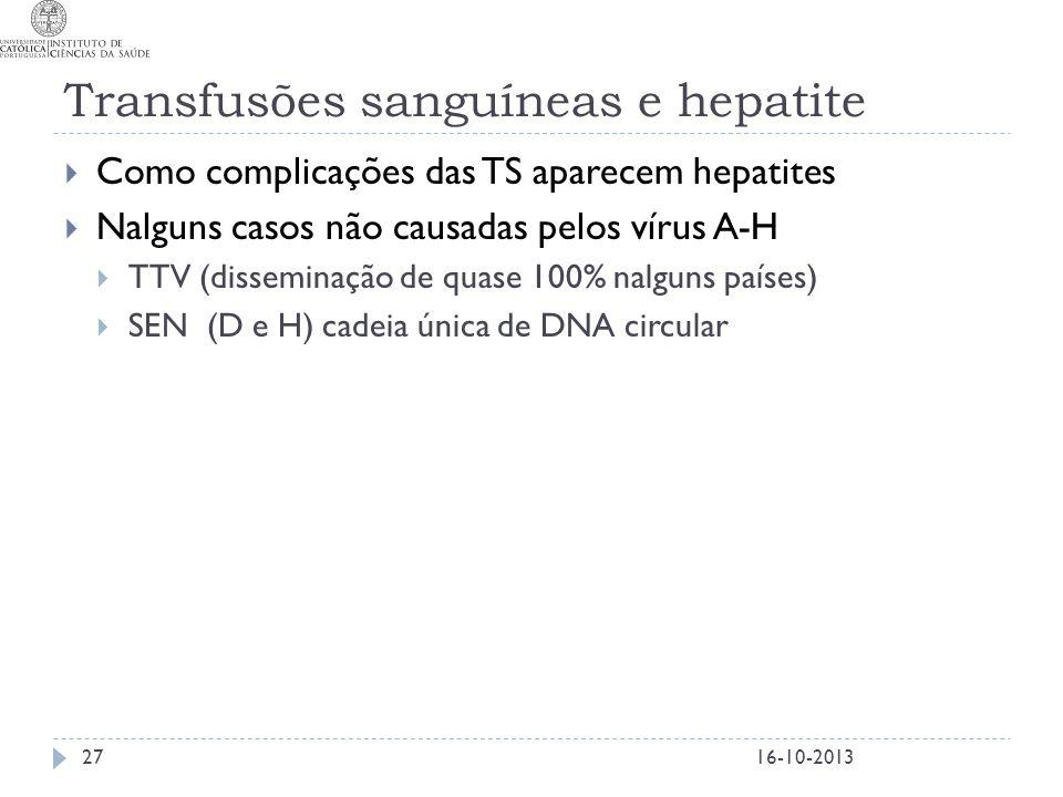 Transfusões sanguíneas e hepatite