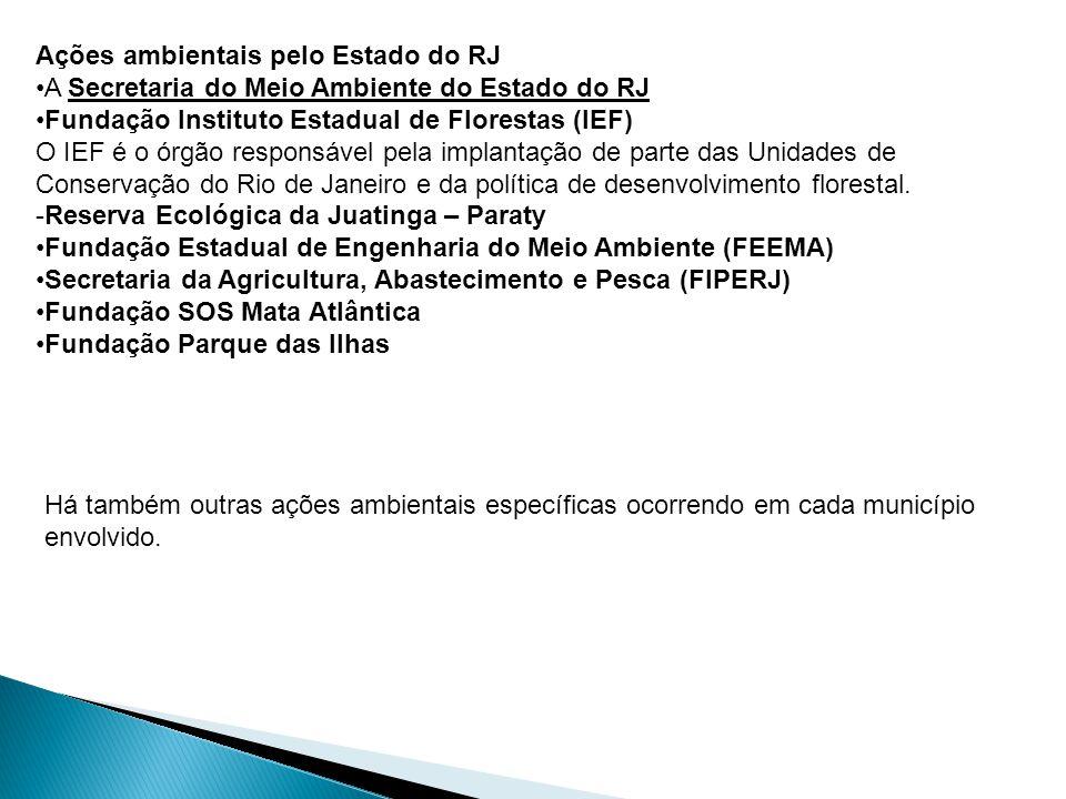 Ações ambientais pelo Estado do RJ