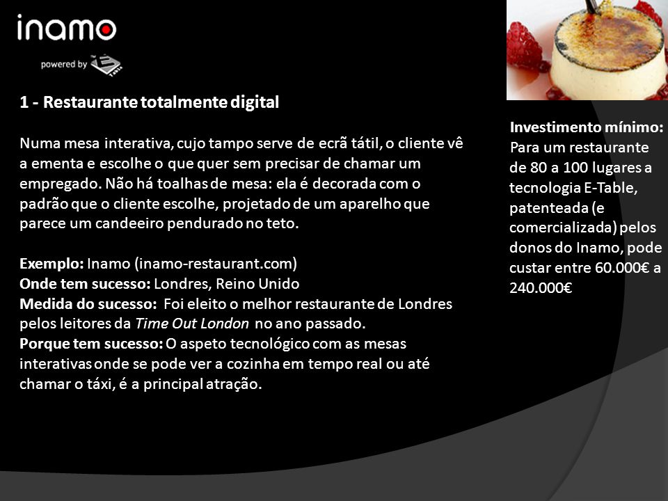 1 - Restaurante totalmente digital