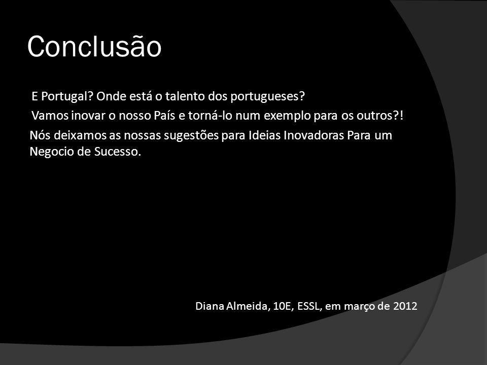 Conclusão E Portugal Onde está o talento dos portugueses