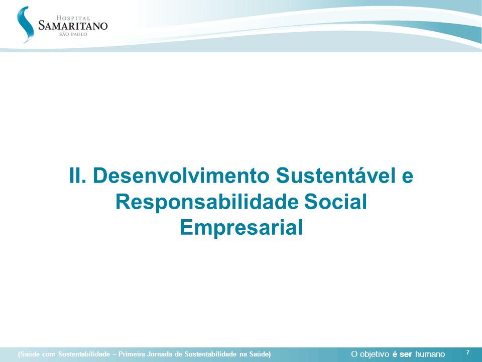 II. Desenvolvimento Sustentável e Responsabilidade Social Empresarial