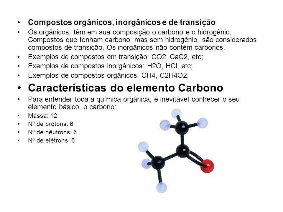Características do elemento Carbono