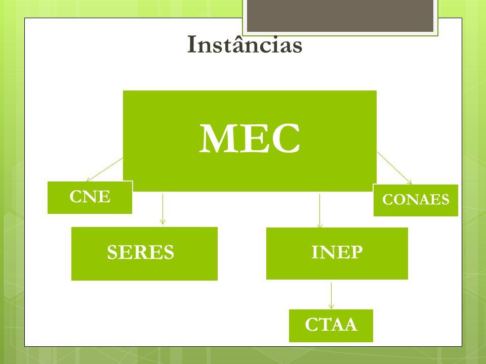 Instâncias MEC SERES INEP CNE CTAA CONAES
