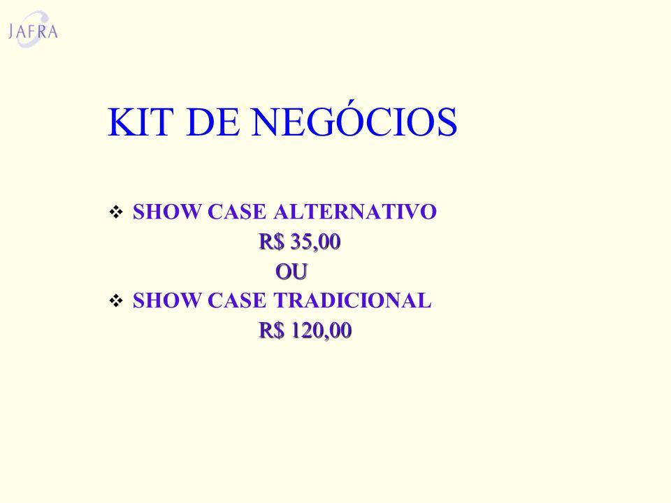 KIT DE NEGÓCIOS SHOW CASE ALTERNATIVO R$ 35,00 OU