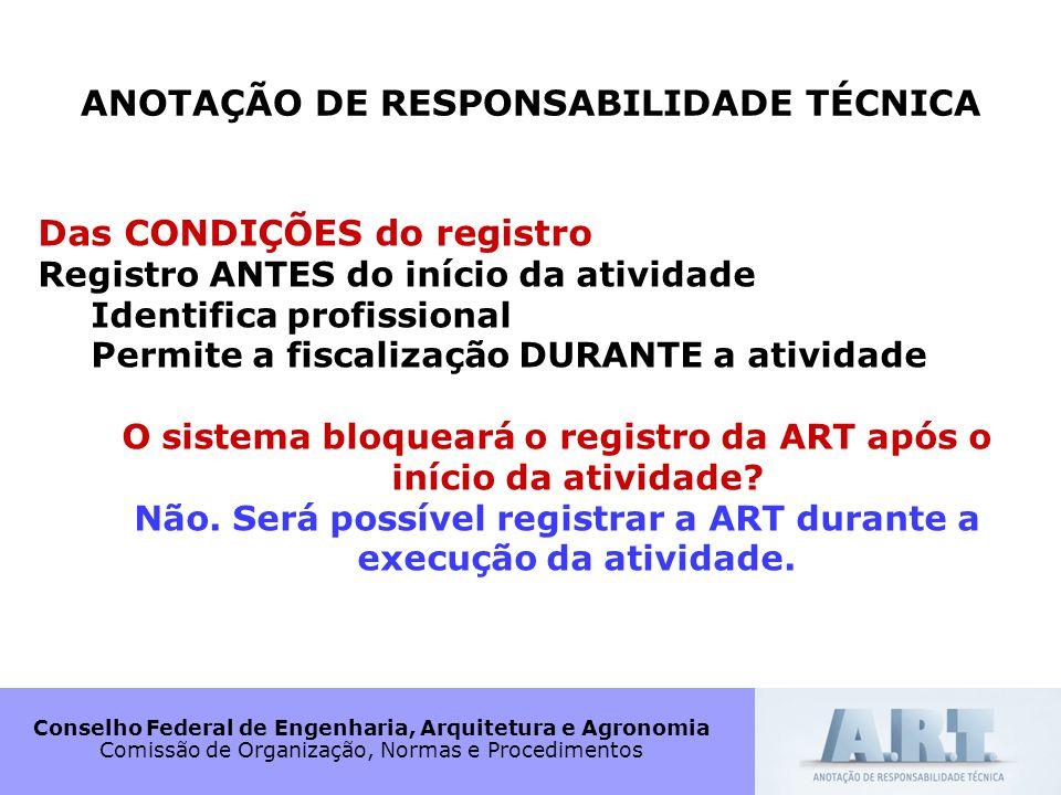 ANOTAÇÃO DE RESPONSABILIDADE TÉCNICA