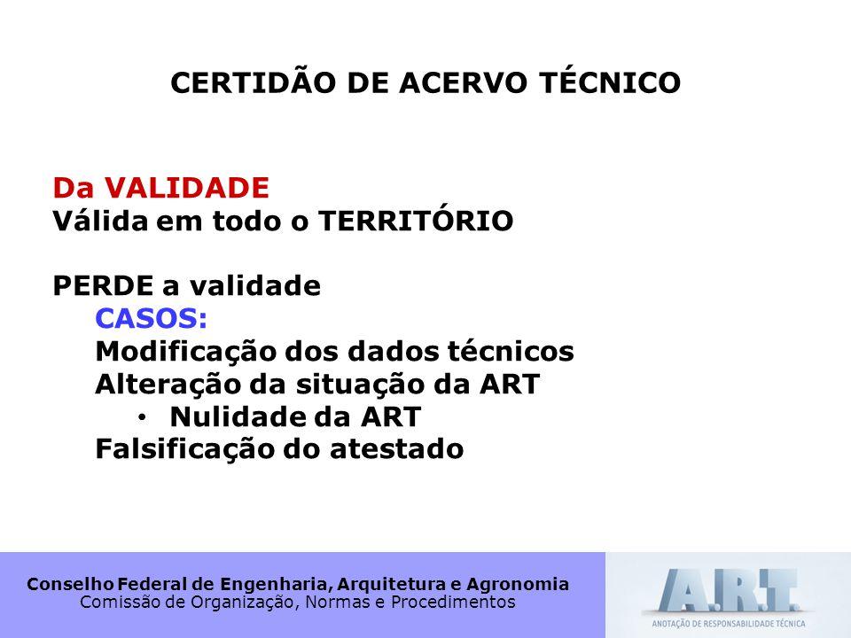 CERTIDÃO DE ACERVO TÉCNICO