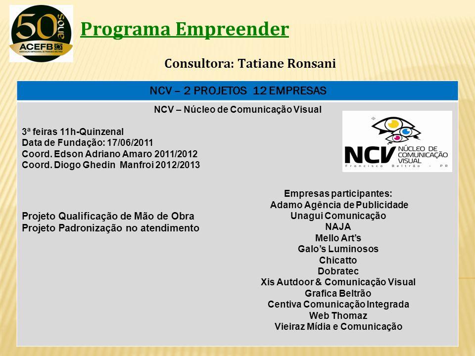 NCV – 2 PROJETOS 12 EMPRESAS Vieiraz Mídia e Comunicação