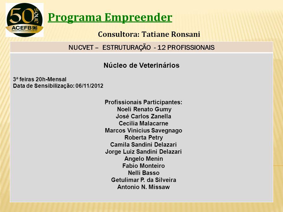 Programa Empreender Consultora: Tatiane Ronsani