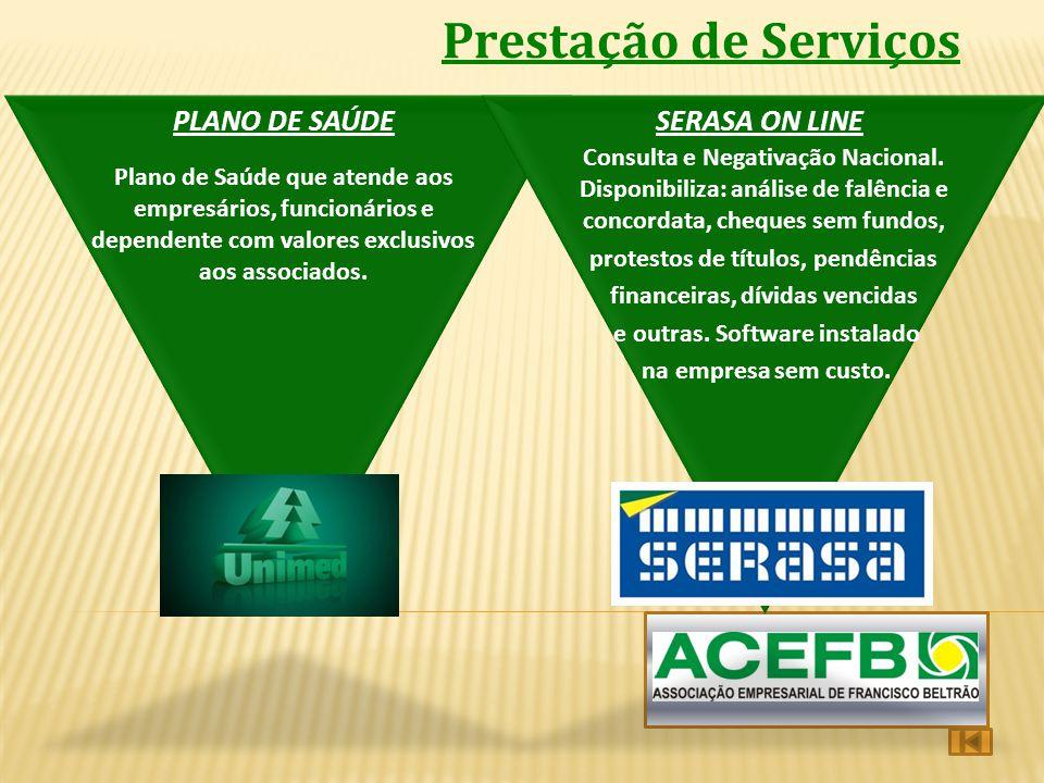 Prestação de Serviços PLANO DE SAÚDE SERASA ON LINE