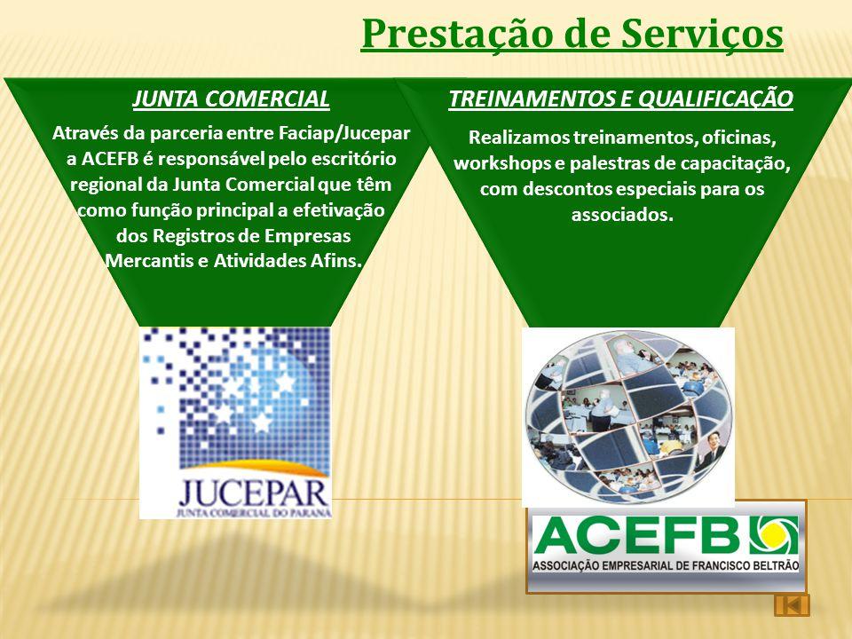 Prestação de Serviços JUNTA COMERCIAL TREINAMENTOS E QUALIFICAÇÃO