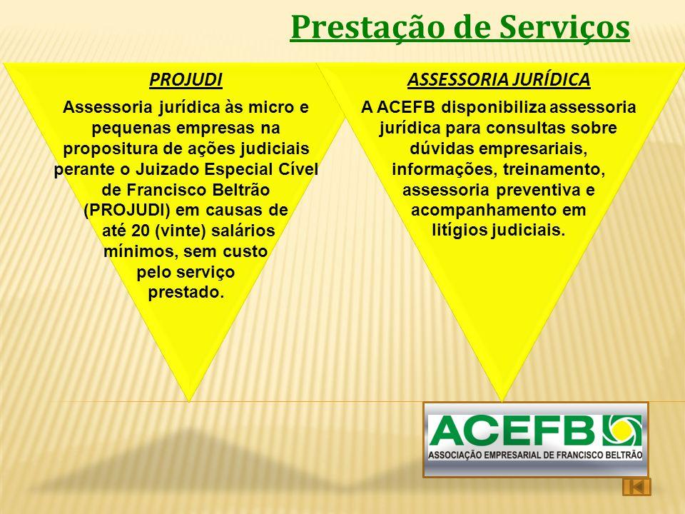 Prestação de Serviços PROJUDI ASSESSORIA JURÍDICA