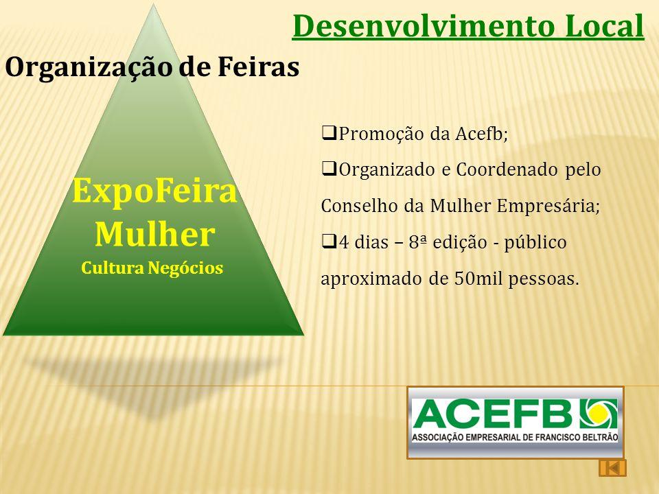 ExpoFeira Mulher Desenvolvimento Local Organização de Feiras