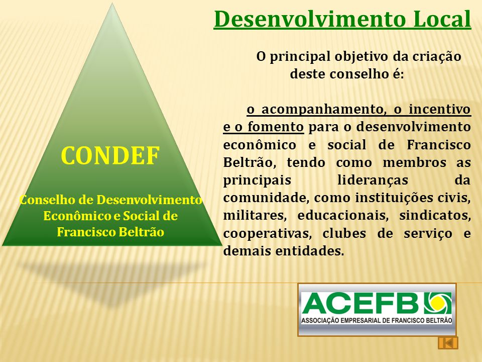 CONDEF Desenvolvimento Local
