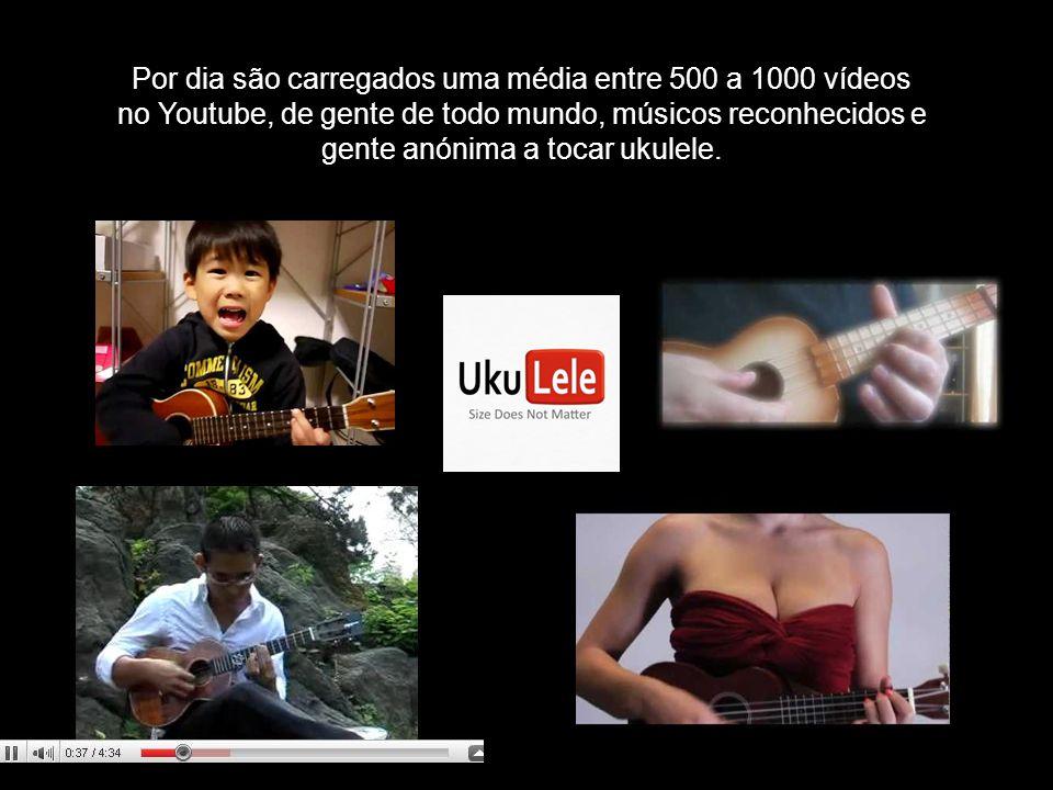 Por dia são carregados uma média entre 500 a 1000 vídeos no Youtube, de gente de todo mundo, músicos reconhecidos e gente anónima a tocar ukulele.