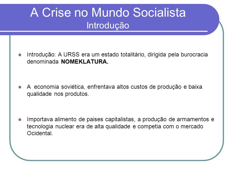 A Crise no Mundo Socialista Introdução
