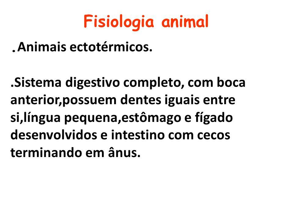Fisiologia animal .Animais ectotérmicos.