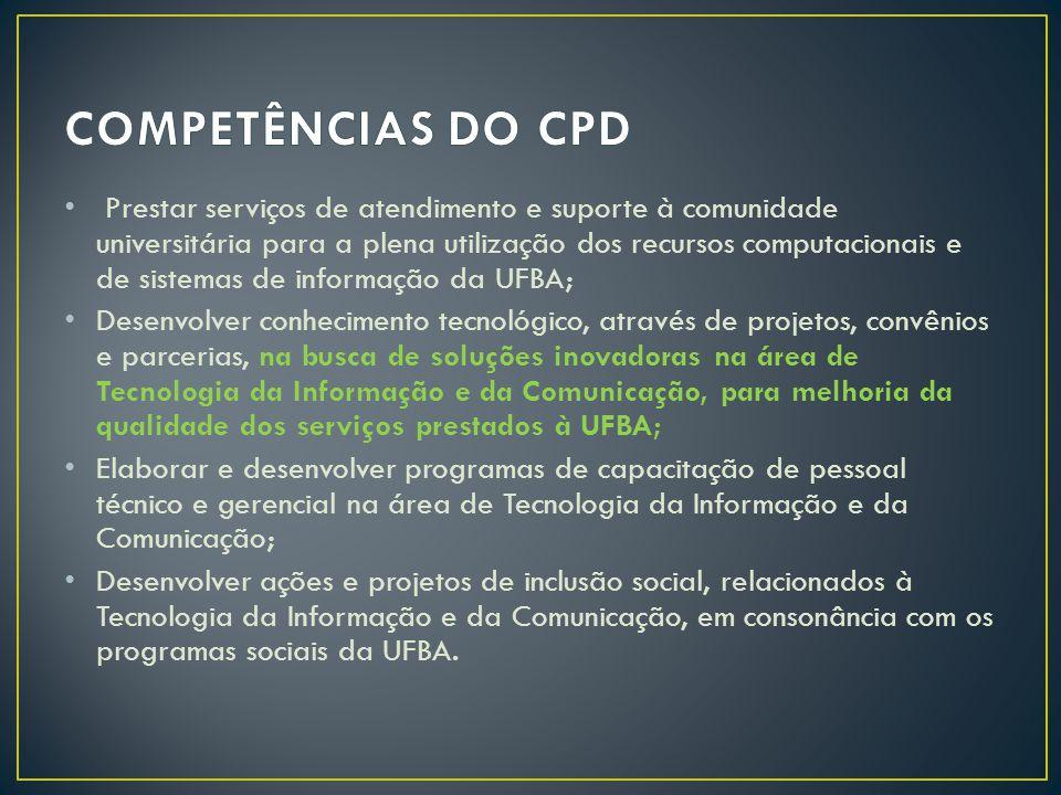 COMPETÊNCIAS DO CPD