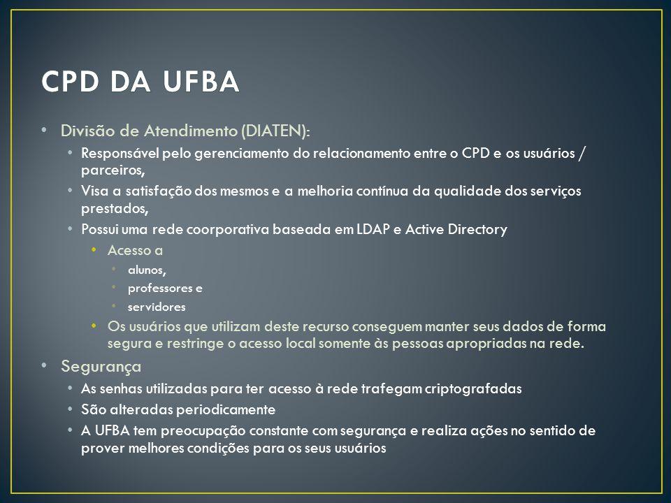 CPD DA UFBA Divisão de Atendimento (DIATEN): Segurança