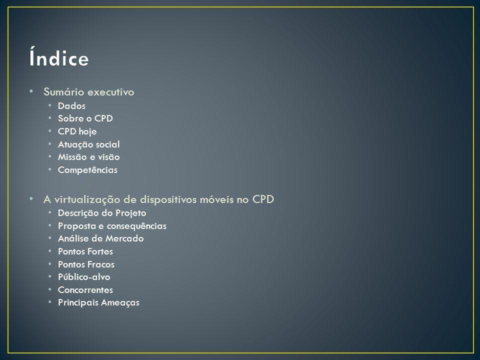 Índice Sumário executivo A virtualização de dispositivos móveis no CPD