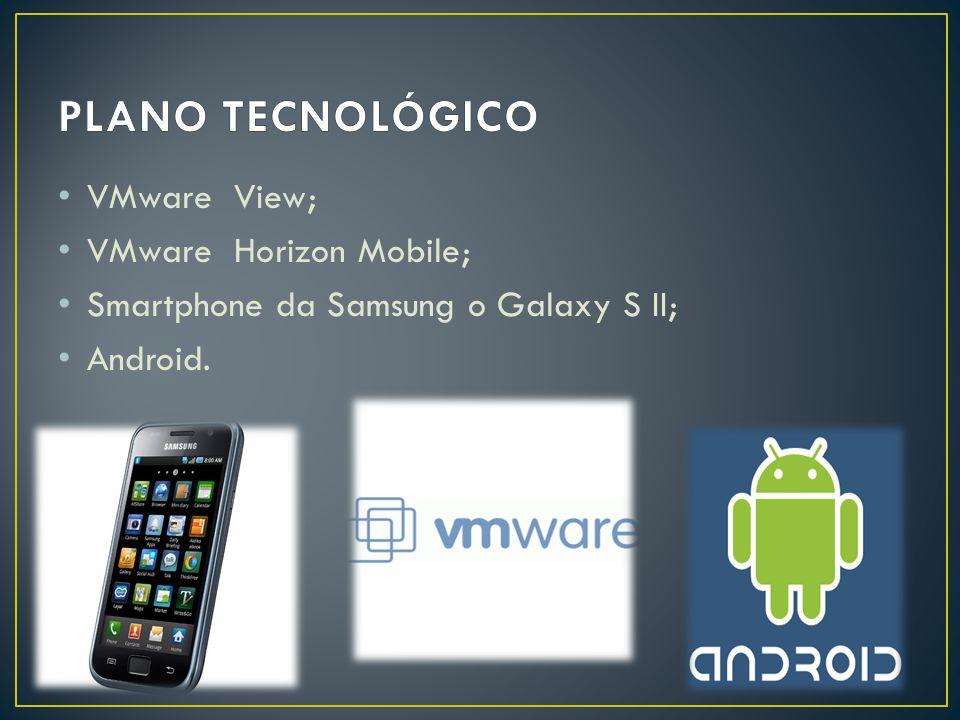 PLANO TECNOLÓGICO VMware View; VMware Horizon Mobile;