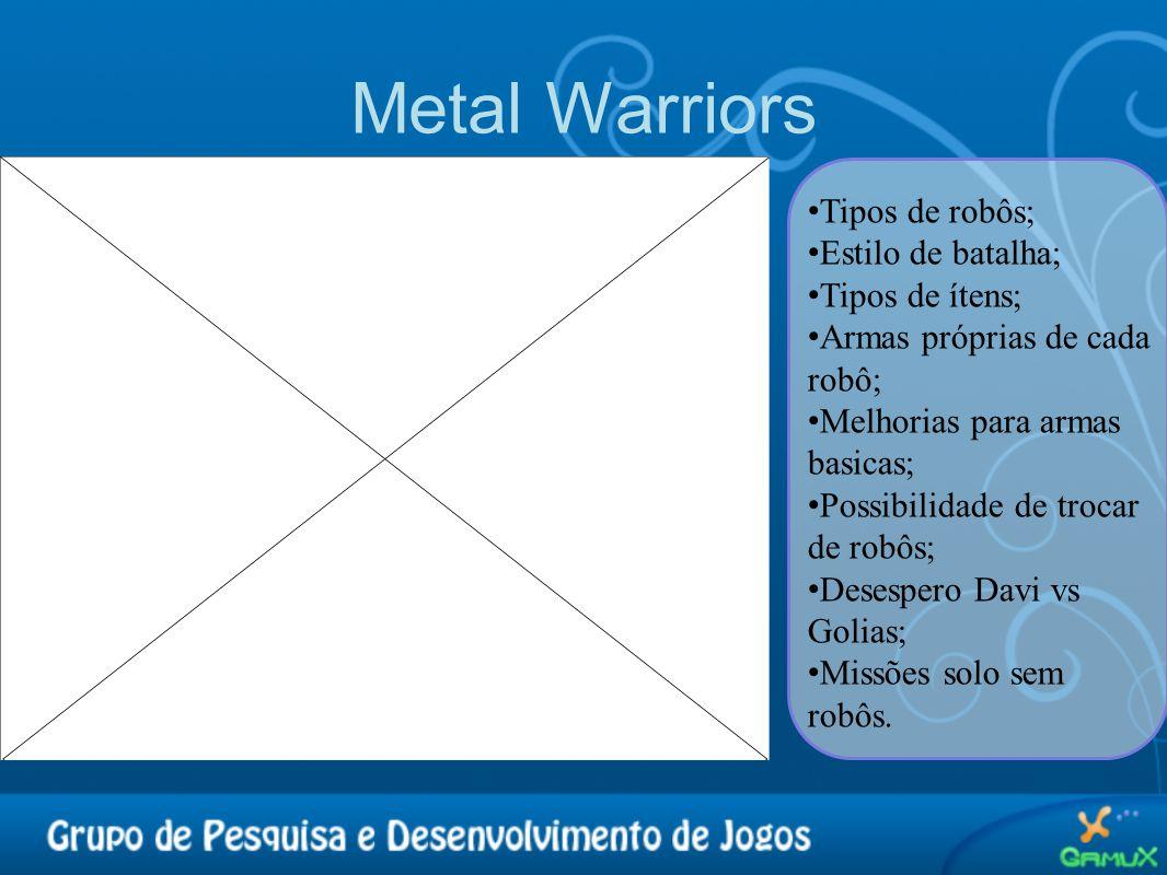 Metal Warriors Tipos de robôs; Estilo de batalha; Tipos de ítens;
