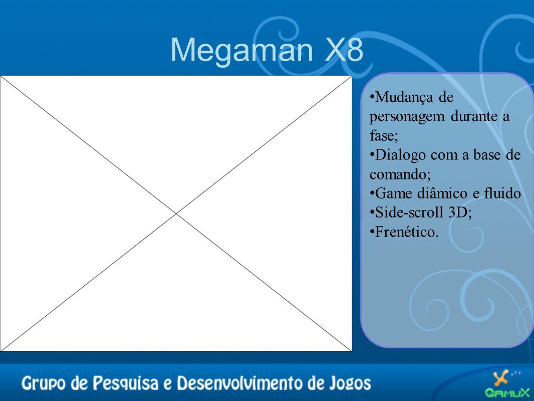Megaman X8 Mudança de personagem durante a fase;
