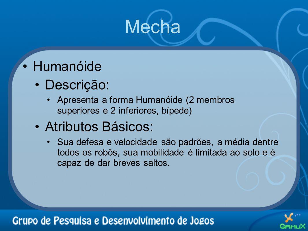Mecha Humanóide Descrição: Atributos Básicos: