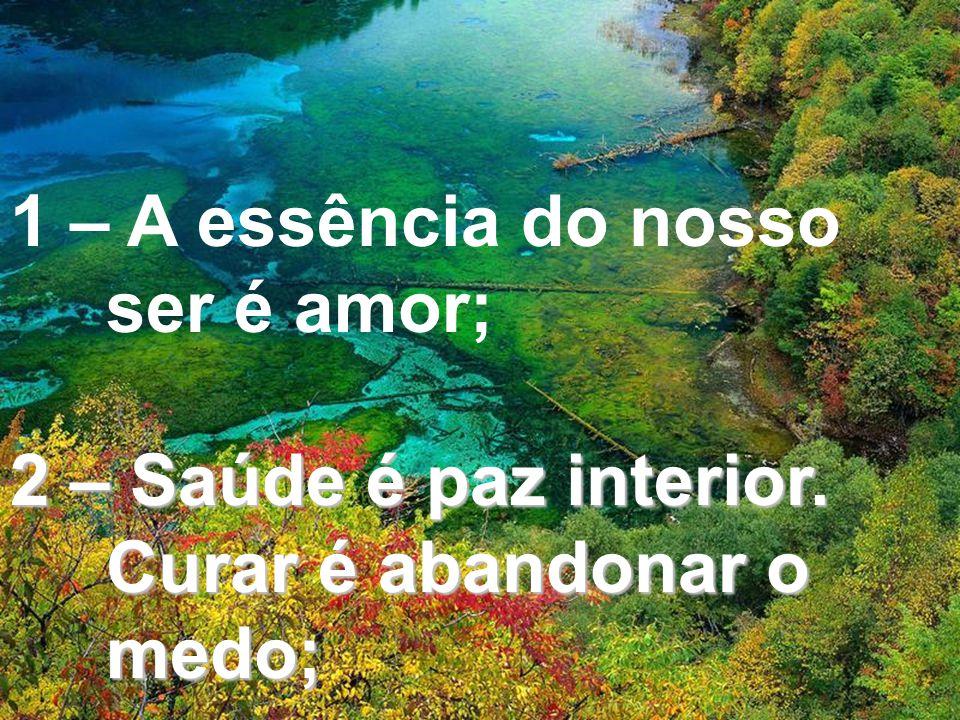 1 – A essência do nosso ser é amor;