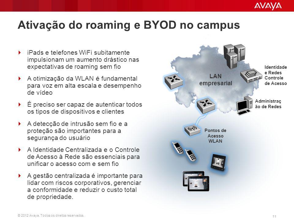 Ativação do roaming e BYOD no campus