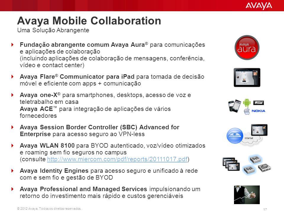 Avaya Mobile Collaboration Uma Solução Abrangente