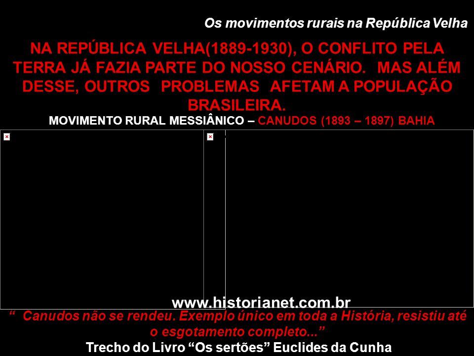 Os movimentos rurais na República Velha