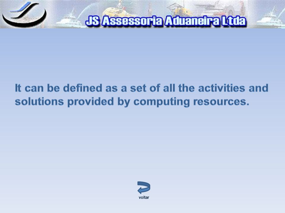 It can be defined as a set of all the activities and solutions provided by computing resources.