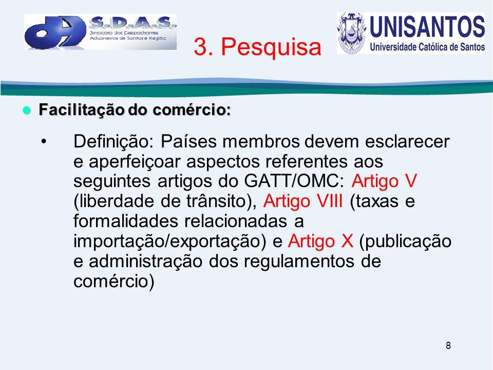 3. Pesquisa Facilitação do comércio: