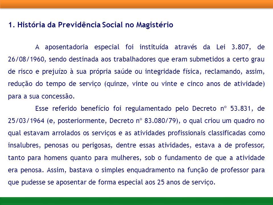 1. História da Previdência Social no Magistério