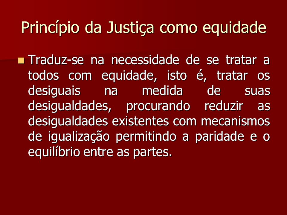 Princípio da Justiça como equidade