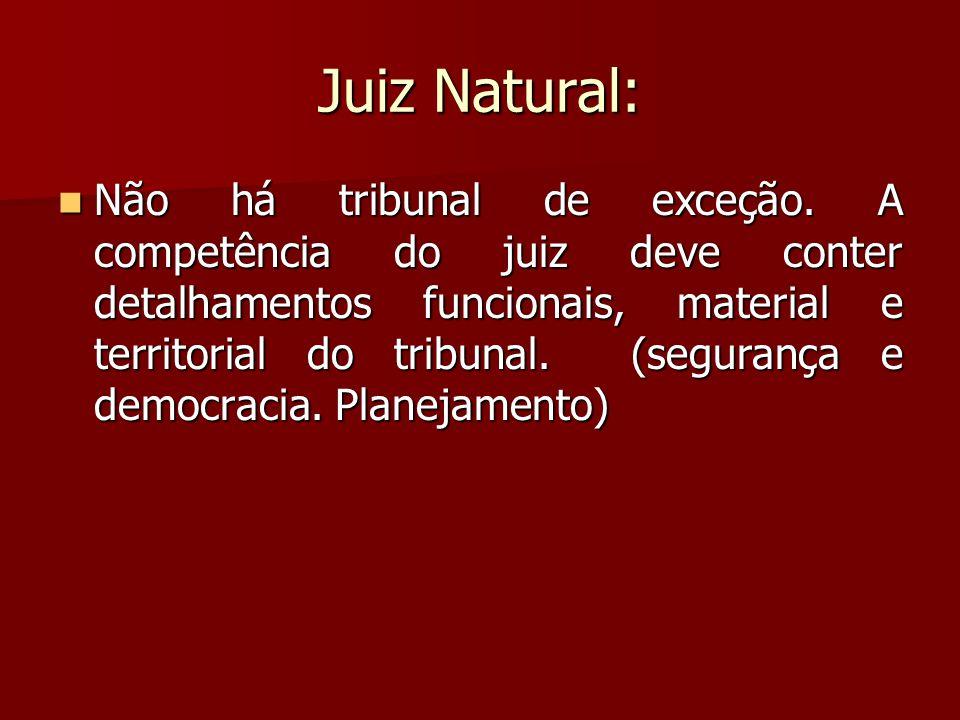 Juiz Natural: