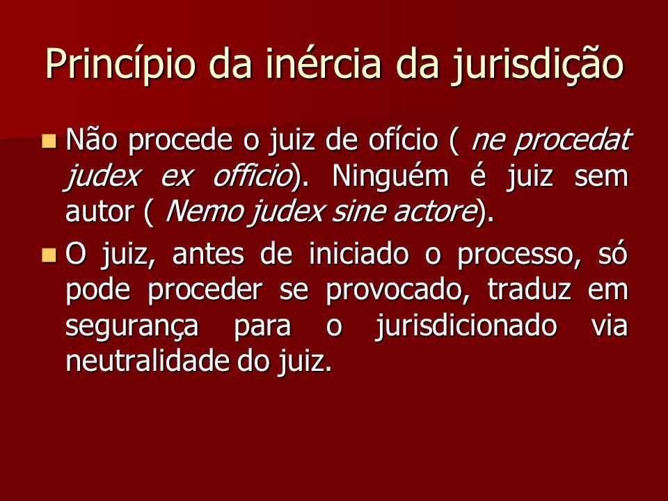 Princípio da inércia da jurisdição