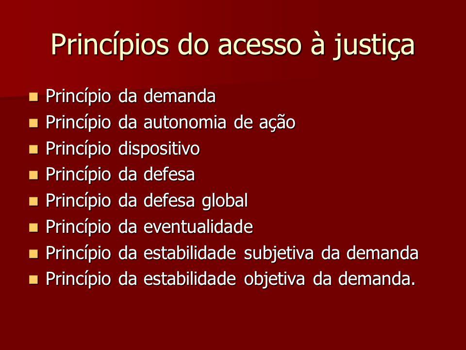 Princípios do acesso à justiça