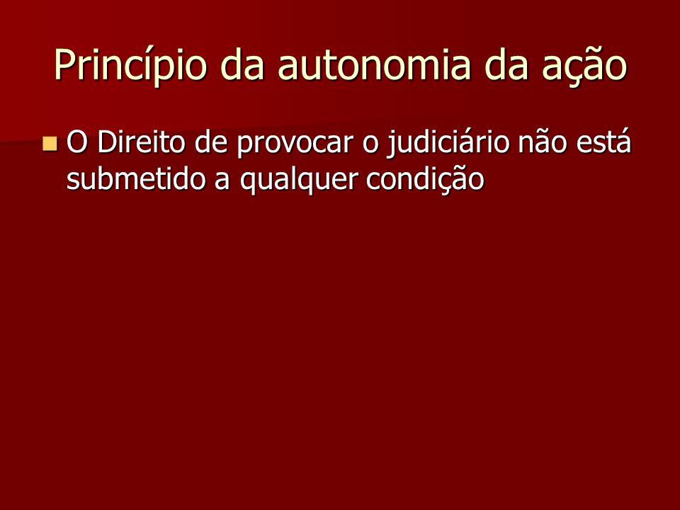 Princípio da autonomia da ação