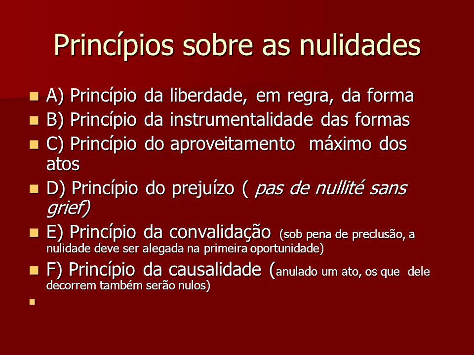 Princípios sobre as nulidades