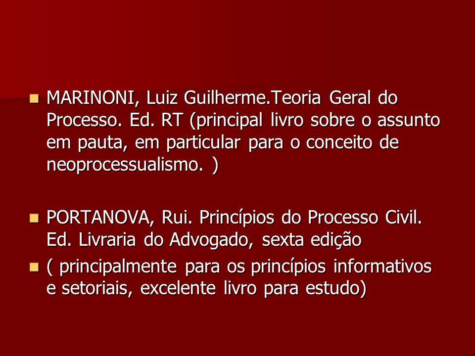 MARINONI, Luiz Guilherme. Teoria Geral do Processo. Ed