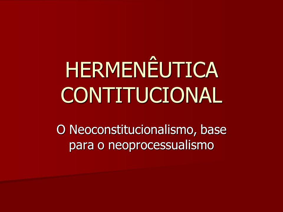 HERMENÊUTICA CONTITUCIONAL