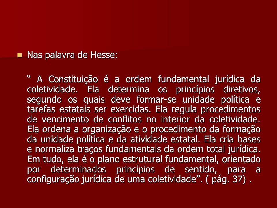 Nas palavra de Hesse: