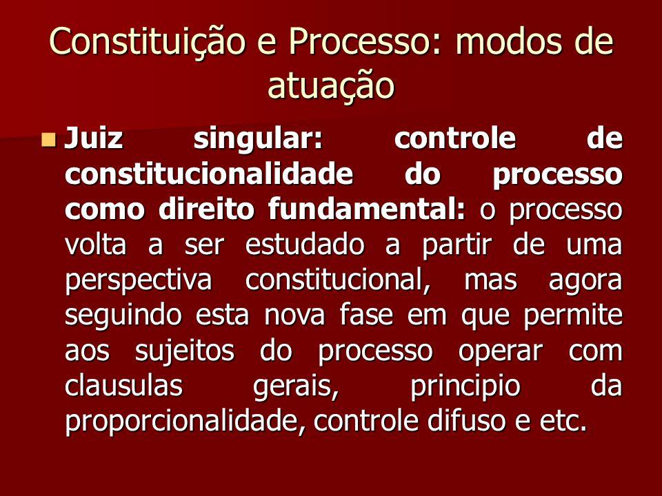 Constituição e Processo: modos de atuação