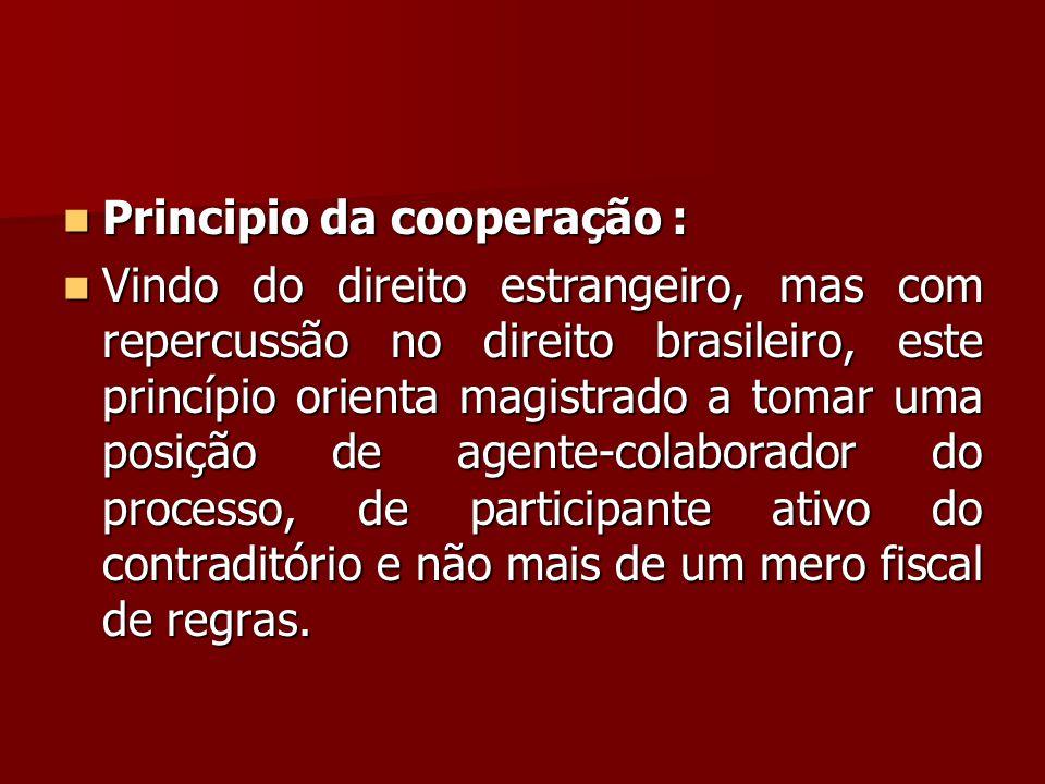 Principio da cooperação :