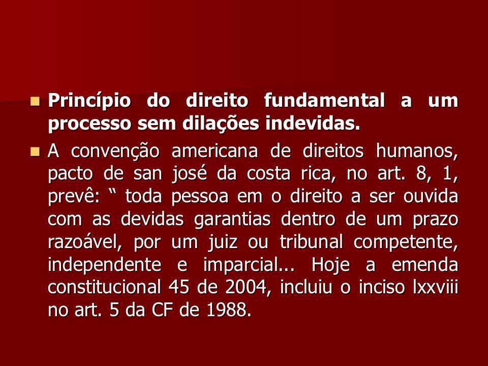 Princípio do direito fundamental a um processo sem dilações indevidas.